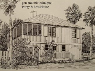 Drawing of Porgy & Bess House